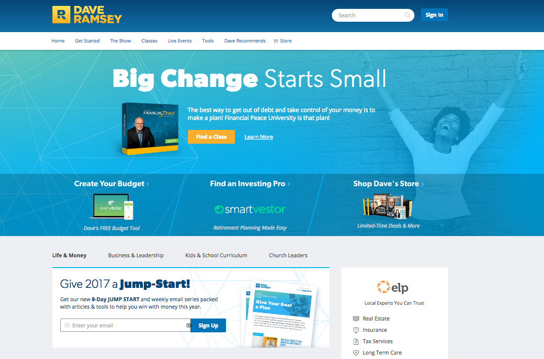 StoryBrand Blog Post - CTA - Dave Ramsey
